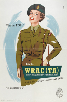 'Why not you? Join the WRAC (TA)', 1950 (c)