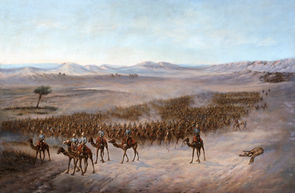 Sir Herbert Stewart's column crossing the Bayuda Desert, 1885
