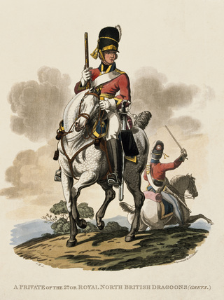 A Private of the 2nd or Royal Northern British Dragoons (Greys), 1812