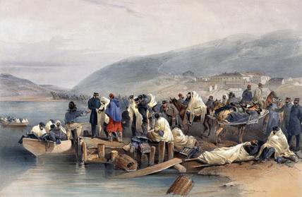 Embarkation of the Sick at Balaklava, 1854-1855