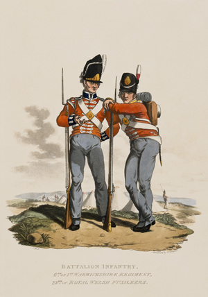 Battalion Infantry 6th Regiment and 23rd or Royal Welsh Fusiliers, 1812