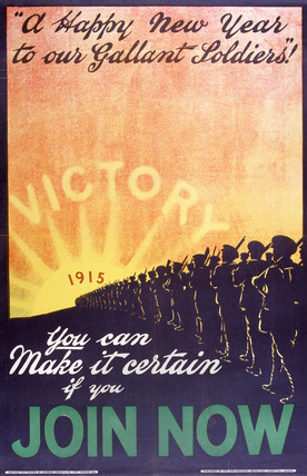 'A Happy New Year to Our Gallant Soldiers!', 1915