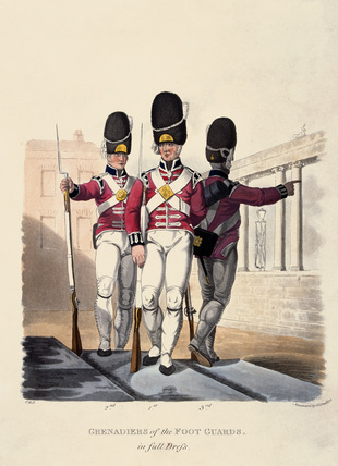 Grenadiers of the Foot Guards in Full Dress, 1812