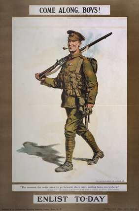 'Come Along, Boys! Enlist To-day', 1914