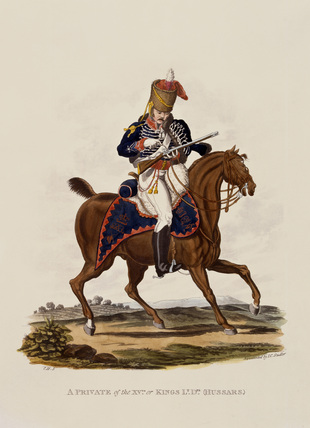 A Private of the 15th or Kings (Hussars), 1812