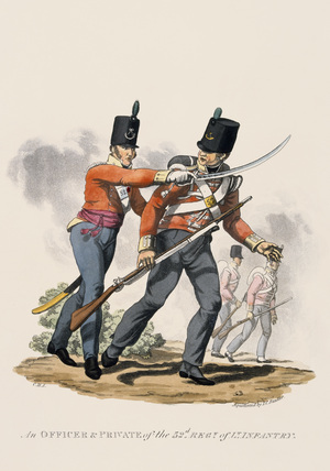 An Officer and Private of the 53rd Regiment of Light Infantry, 1812