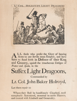 'Lt-Col Holroyd's Light Dragoons', 1780 (c)