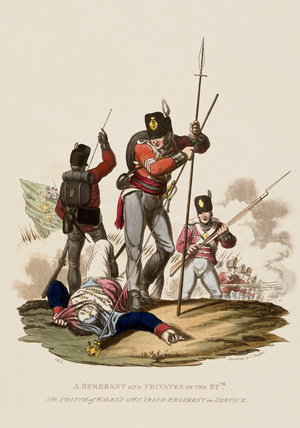 A Sergeant and Privates of the 87th or Prince of Wales's Own Irish Regiment on Service, 1812
