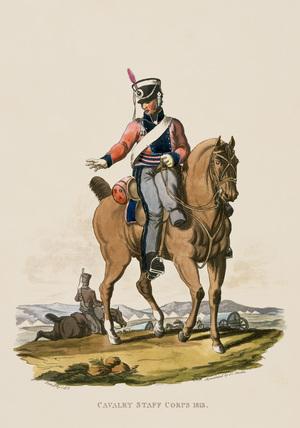 Cavalry Staff Corps, 1813