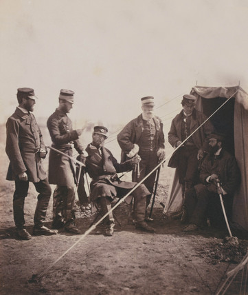 Brigadier General McPherson and Officers of the 4th Division, 1855