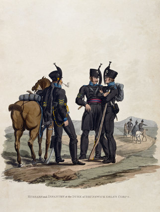 Hussars and Infantry of the Duke of Brunswick Oels's Corps, 1812