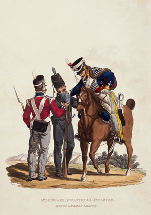 3rd Hussars, Infantry and Light Infantry, King's German Legion, 1815