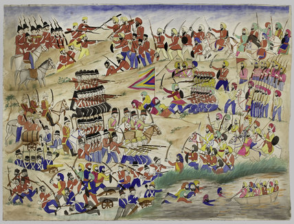 A battle of the Sikh Wars, 1846 (c)
