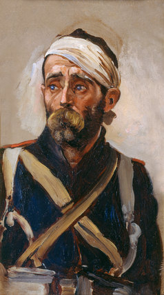 Study of a wounded Guardsman, Crimea, 1854 (c)