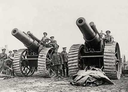 Howitzers of the Royal Garrison Artillery, 1917 (c)