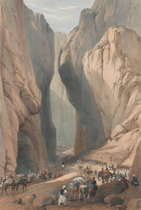 'The Army of the Indus forcing the Bolan Pass', 1839