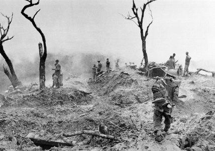 10th Gurkha RIfles clearing enemy positions on 'Scraggy' hill, Burma, 1944