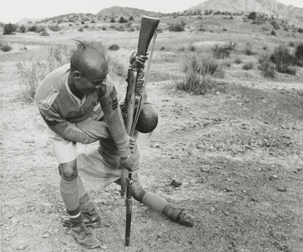 A Gurkha NCO demonstrates unarmed combat techniques, November 1944