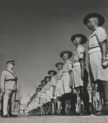 Field Marshal Wavell inspecting 9th Gurkha Rifles, 1943-1947 (c)