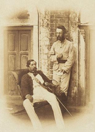 Major-General Robert Napier and Major E H Greathead, Lucknow, 1857