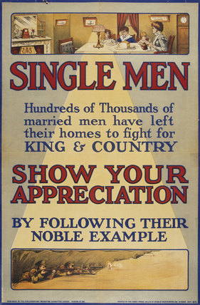 'Single Men Show Your Appreciation', 1915