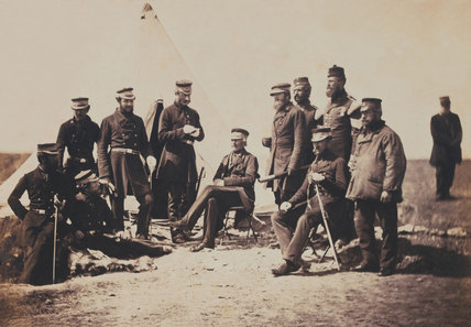 Lieutenant-General Sir J L Pennefather and Staff, Crimean War, 1855