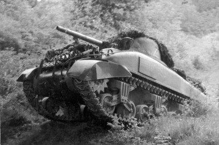 'A' Squadron Sherman tank, Normandy, 1944
