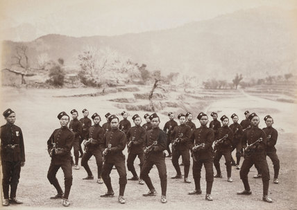 A detachment of the 4th Gurkha (Rifle) Regiment, 1891 (c)