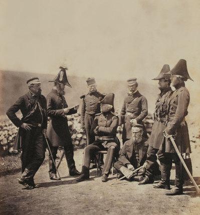 Lieutenant General Sir George Brown and staff, 1855