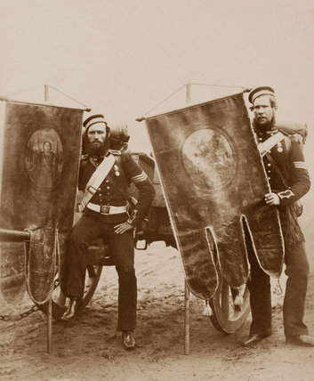 Company Sergeant Christy and Sergeant McGifford, Royal Artillery, 1856