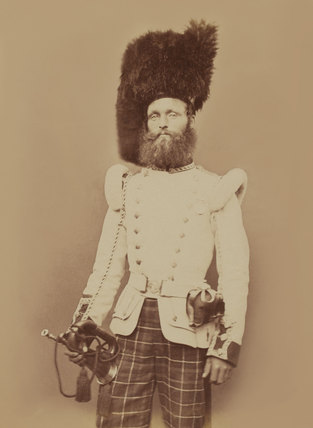 Drummer John Rennie, 72nd (Duke of Albany's Own Highlanders) Regiment of Foot, 1856