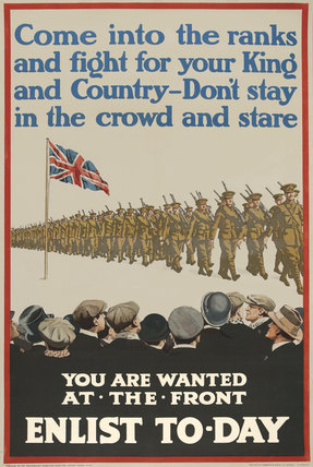 'Come into the ranks and fight', 1915