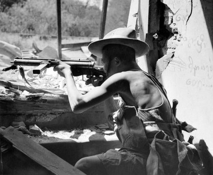 4th Gurkha Rifles in action, Burma, 1945