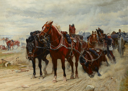'Patient Heroes', a Royal Horse Artillery Gun Team in action, 1882