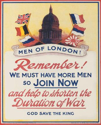 'Men of London! Remember!', 1914