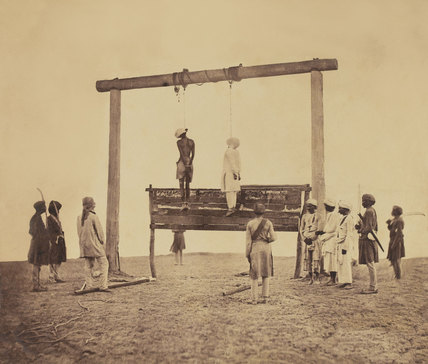 The execution of mutineers, 1858 (c)