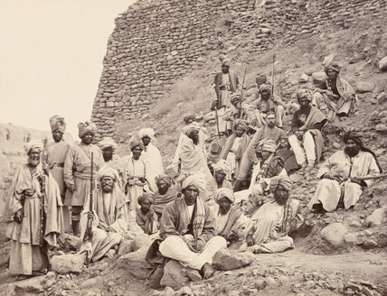 Khyber Chiefs and Khans, North West Frontier, 1878 (c)