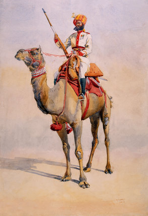 A Ratore Rajput of the Bikanir Camel Corps, 1908