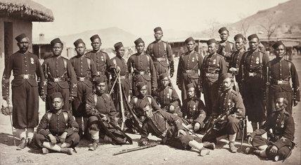 4th Goorkha Regiment bayonet team, 1878-1880 (c)