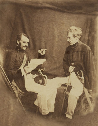 General Sir Colin Campbell and Major General Mansfield, 1858 (c)