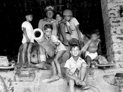 Refugee children, Nicolosi, Sicily, 1943