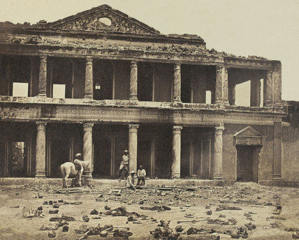 Interior of Secundra Bagh, Lucknow 1858 (c)