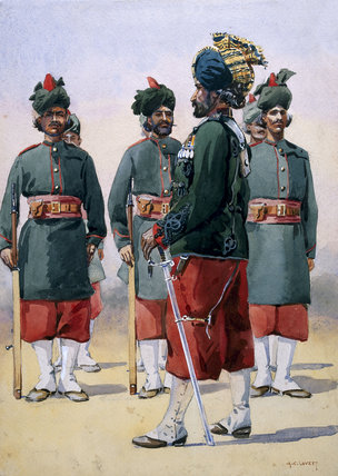 Soldiers of the 127th Queen Mary's Own Baluch Light Infantry, 1910 (c)