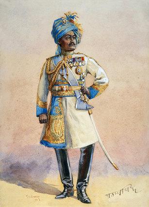 Hon Major-General H H Maharaja Sir Pratap Singh Bahadur, 1911 (c)