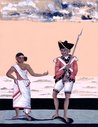 Sepoy of Madras Native Infantry and his wife, 1810 (c)