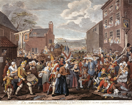 The March of the Guards towards Scotland in the year 1745