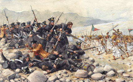 The last stand of the 44th East Essex Regiment at Gandamuk, 1842