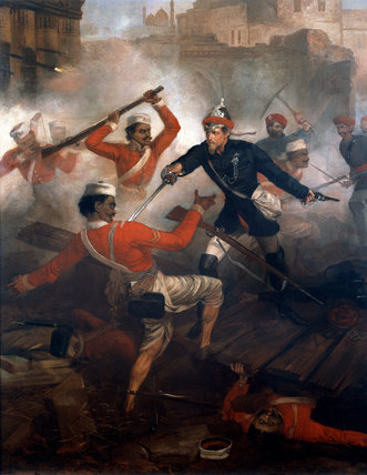 Lieutenant William Kerr winning the VC, July 1857