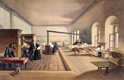 One of the Wards of the Hospital at Scutari, 1855 (c)