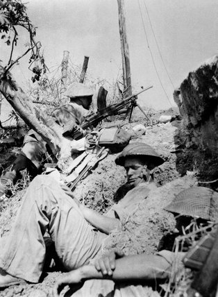 British infantry in action in Sicily, July 1943